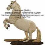 Lipizzaner Intarsia Woodworking Pattern