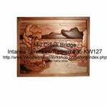36-KW127 - Mill Creek Bridge Intarsia Woodworking Pattern