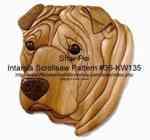 Shar Pei Head Intarsia Woodworking Pattern, intarsia,dogs,shar pei,animals,Kathy Wise,scrollsaw patterns,woodworking plans,scrollsawing projects,blueprints