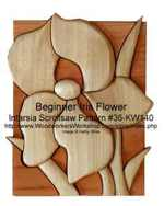 Beginner Iris Intarsia Woodworking Pattern