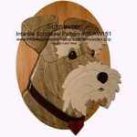 Schnauzer Head Intarsia Woodworking Pattern
