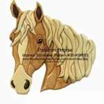 36-KW163 - Palomino Horse Head Intarsia Woodworking Pattern