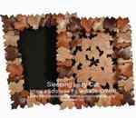 36-KW168 - Maple Leaf Frame Intarsia Woodworking Pattern