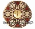 Indian Style Clock Intarsia Woodworking Pattern