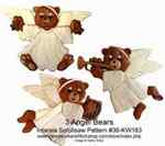36-KW183 - Angel Bears Intarsia Woodworking Pattern
