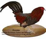 36-KW187 - Rooster Intarsia Woodworking Pattern