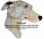 Whippet Head Intarsia Woodworking Pattern