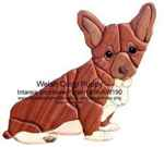36-KW190 - Pembroke Welsh Corgi Intarsia Woodworking Pattern