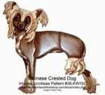36-KW192 - Chinese Crested Dog Intarsia woodworking Pattern