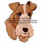 36-KW193 - Fox Terrier Head Intarsia Woodworking Pattern