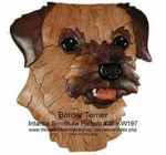 Border Terrier Head Intarsia Woodworking Pattern