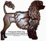 36-KW199 - Portuguese Water Dog Intarsia Woodworking Pattern