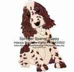Springer Spaniel Puppy Intarsia Woodworking Pattern