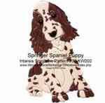 Springer Spaniel Puppy Intarsia Woodworking Pattern