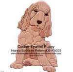 Cocker Spaniel Pup Intarsia Woodworking Pattern