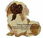 Sitting Pekingese Intarsia Woodworking Pattern, intarsia,pekingese,sitting,dogs,puppies,animals,Kathy Wise,scrollsaw patterns,woodworking plans,scrollsawing projects,blueprints