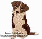 Border Collie Puppy Intarsia Woodworking Pattern