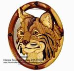 Bobcat Intarsia Woodworking Pattern