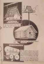 3 Birdhouse Vintage Woodworking Plans - Wren Cottage-Cabin-Schooner, wren birdhouses,log cabins,western wagon,prairie schooners,full sized patterns,vintage woodworking plans,old projects,recycled,woodworkers projects,blueprints,drawings,blueprints,how-to-build