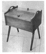 Sturdy Portable Sewing Cabinet Vintage Woodworking Plan, seamstress,sewing,patterns,totes,cabinets,portable,vintage woodworking plans,old projects,recycled,woodworkers projects,blueprints,drawings,blueprints,how-to-build
