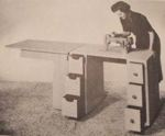 fee plans woodworking resource from WoodworkersWorkshop Online Store - sewing machine cabinets,sewing table,seamstress,folding,full sized patterns,vintage woodworking plans,old projects,recycled,woodworkers projects,blueprints,drawings,blueprints,how-to-build