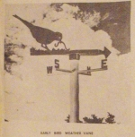 R-ANH0213 - Early Bird Weather Vane Vintage Woodworking Plan