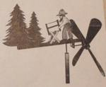 Wood Sawing Windmill Vintage Woodworking Plan, wood sawing windmills,bucking logs whirligigs,woodsmen,axemen windmobiles,full sized patterns,axemen,forestry,chopping woods,axeman,vintage woodworking plans,woodpeckers,old projects,recycled,woodwork