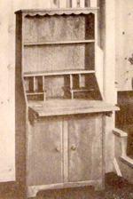 Bookcase Secretary Vintage Woodworking Plan.