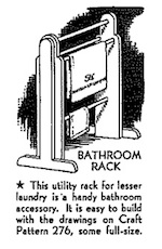 Bathroom Rack Vintage Woodworking Plan