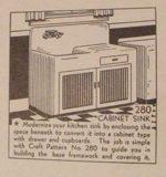 Farm Sink Cabinet Enclosure Vintage Woodworking Plan