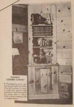 Pioneer Corner Cabinet Vintage Woodworking Plan