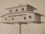 A 13 Room Modern Martin Birdhouse Vintage Woodworking Plan, martin birdhouses,full sized patterns,vintage woodworking plans,old projects,recycled,woodworkers projects,blueprints,drawings,blueprints,how-to-build