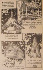 4 Rustic Birdhouses Vintage Woodworking Plan