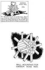 A Garden Hose Reel Vintage Woodworking Plan.