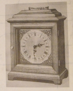 Halifax Bracket Clock Vintage Woodworking Plan.