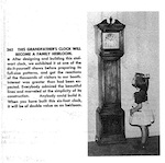 Grandfather Clock Vintage Woodworking Plan