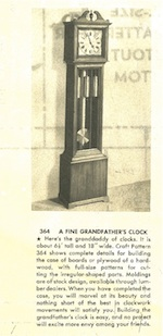 Fine Grandfathers Clock Vintage Woodworking Plan
