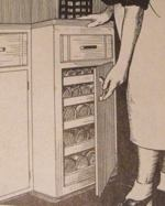 Canned Foods Cabinet Vintage Woodworking Plan