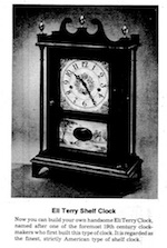 Eli Terry Shelf Clock Vintage Woodworking Plan - Paper plan