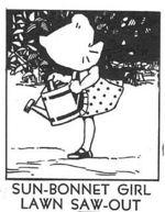 Sun Bonnet Girl Lawn Saw Out Vintage Woodworking Plan