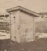 A Sanitary Privy with Wood Floor Vintage Woodworking Plan.