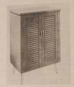 R-ANH0477 - A Modern Shoe Cabinet with Shutter Panel Door Vintage Woodworking Plan