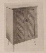 A Modern Shoe Cabinet with Shutter Panel Door Vintage Woodworking Plan