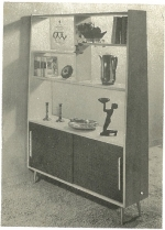Simple Room Divider with Base Cabinet Vintage Woodworking Plan