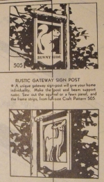 R-ANH0505 - Rustic Gateway Sign Post Vintage Woodworking Plan