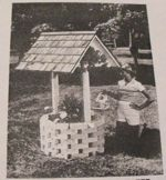 Plant Well and Bird Shelter Vintage Woodworking Plan