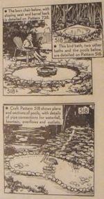 Garden Creations Pools Waterfalls Bird Baths Vintage Woodworking Plan