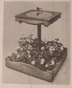 Bird Bath Planter Vintage Woodworking Plan