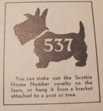 Scottie House Number Vintage Woodworking Plan