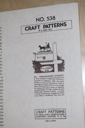 Horse and Buggy Silhouette Vintage Woodworking Plan